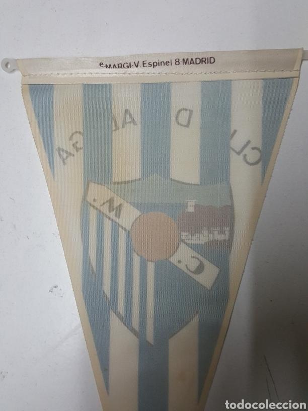Coleccionismo deportivo: Banderin futbol Cub Deportivo Málaga años 70 de 26 cm - Foto 2 - 195337096
