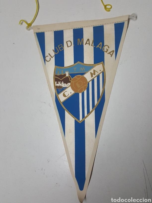 BANDERIN FUTBOL CUB DEPORTIVO MÁLAGA AÑOS 70 DE 26 CM (Coleccionismo Deportivo - Banderas y Banderines de Fútbol)