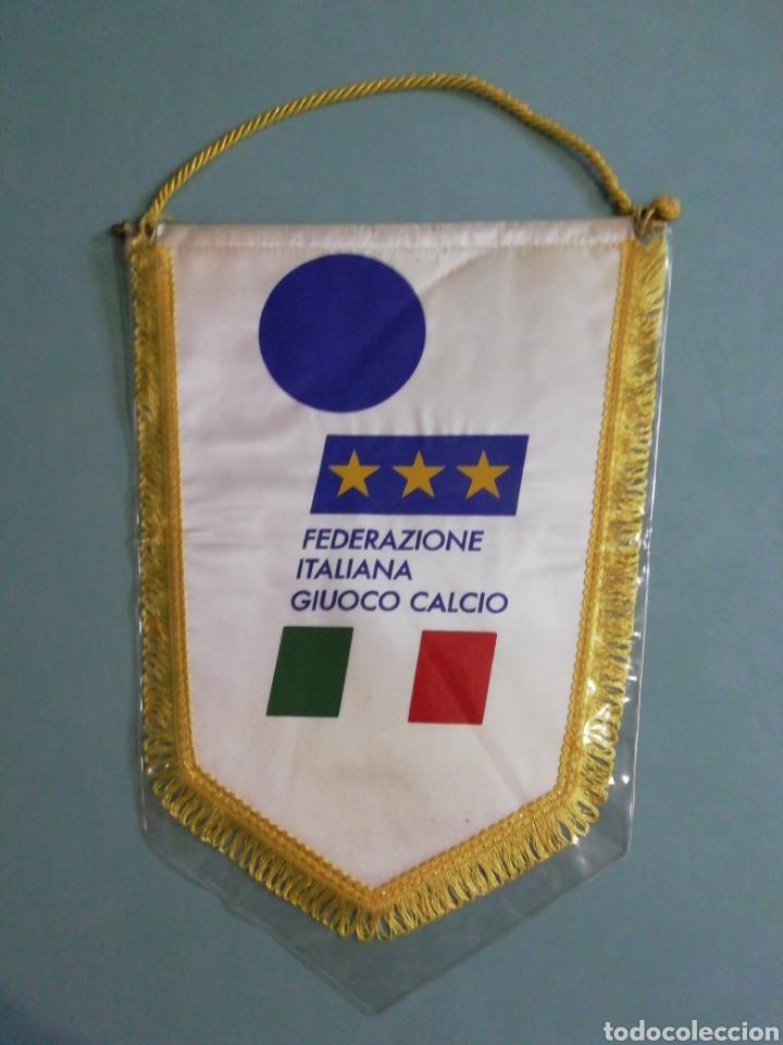 BANDERIN FEDERACIÓN ITALIANA DE FUTBOL (Coleccionismo Deportivo - Banderas y Banderines de Fútbol)