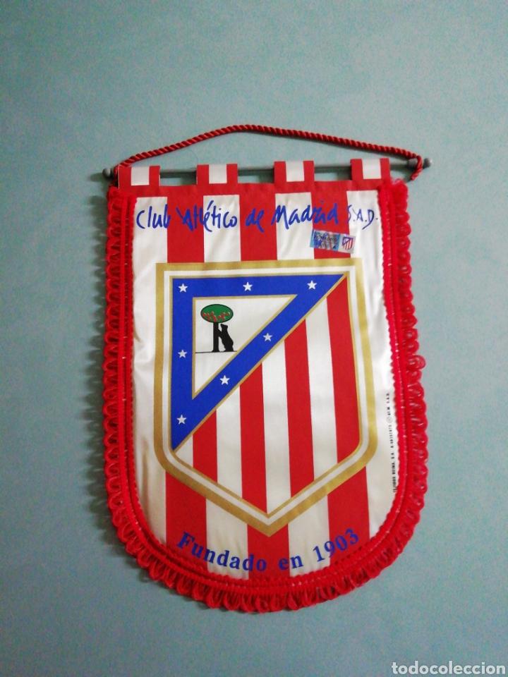 BANDERIN CLUB ATLÉTICO DE MADRID S. A. D. (Coleccionismo Deportivo - Banderas y Banderines de Fútbol)