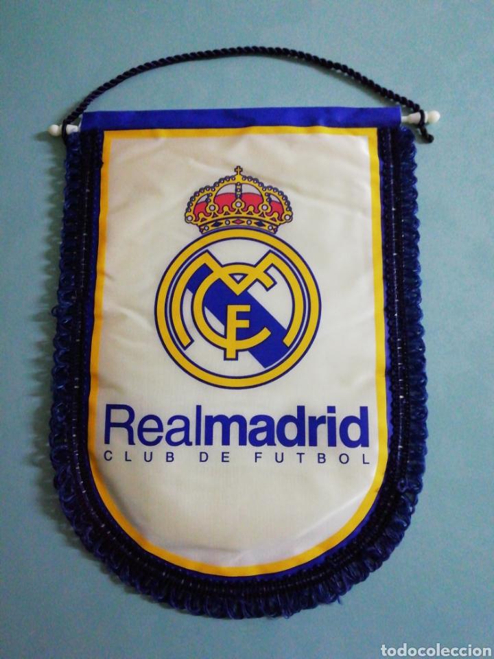 BANDERIN REAL MADRID C. F. (Coleccionismo Deportivo - Banderas y Banderines de Fútbol)