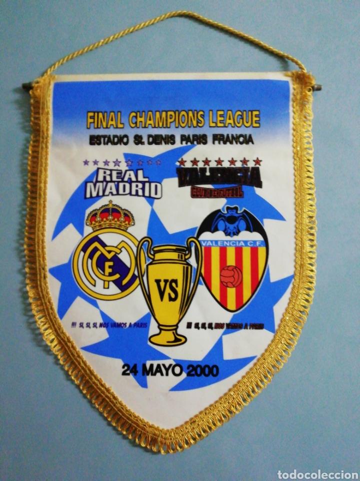 BANDERIN FINAL CHAMPIONS LEAGUE 2000 (Coleccionismo Deportivo - Banderas y Banderines de Fútbol)