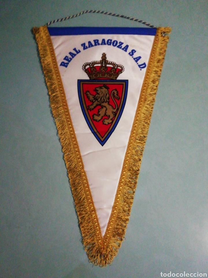 BANDERIN REAL ZARAGOZA S. A. D. (Coleccionismo Deportivo - Banderas y Banderines de Fútbol)