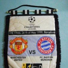 Coleccionismo deportivo: BANDERIN CHAMPIONS LEAGUE - MANCHESTER UNITED VS FC BAYERN MUNCHEN. Lote 197773621