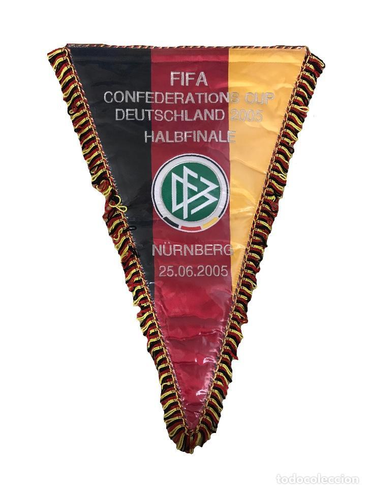 ALEMANIA BANDERÍN MATCH WORN CONFEDERACIONES 2005 (Coleccionismo Deportivo - Banderas y Banderines de Fútbol)