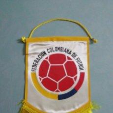 Collectionnisme sportif: BANDERIN FEDERACIÓN COLOMBIANA DE FUTBOL. Lote 199653426