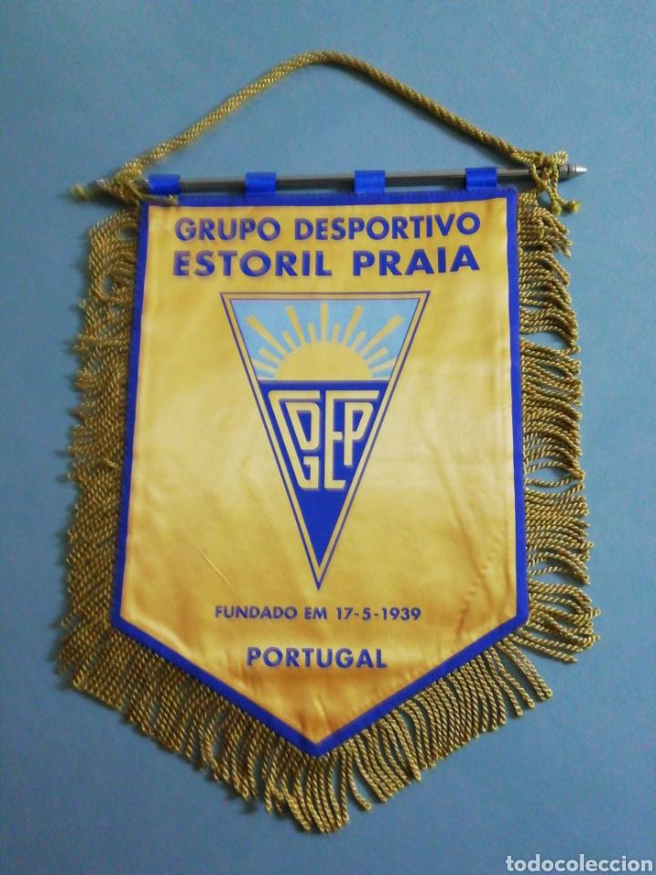 BANDERIN G. D. ESTORIL PRAIA DE PORTUGAL (Coleccionismo Deportivo - Banderas y Banderines de Fútbol)