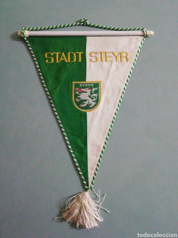 BANDERIN STADT STEYR DE AUSTRIA (Coleccionismo Deportivo - Banderas y Banderines de Fútbol)