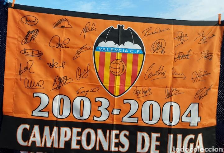 Coleccionismo deportivo: Bandera campeón liga 2003/04 - Foto 2 - 199789688
