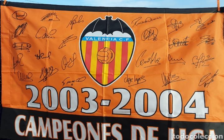 BANDERA CAMPEÓN LIGA 2003/04 (Coleccionismo Deportivo - Banderas y Banderines de Fútbol)