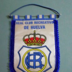 Colecionismo desportivo: BANDERIN REAL CLUB RECREATIVO DE HUELVA. Lote 199910295