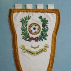 Coleccionismo deportivo: BANDERIN C. D. CUATROVIENTOS - PONFERRADA (LEÓN). Lote 199925946