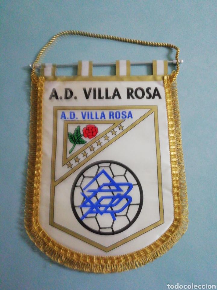 BANDERIN A. D. VILLA ROSA - MADRID (Coleccionismo Deportivo - Banderas y Banderines de Fútbol)