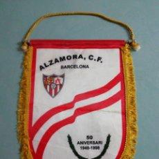 Collezionismo sportivo: BANDERIN ALZAMORA C. F. - BARCELONA. Lote 200379305