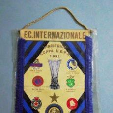 Coleccionismo deportivo: BANDERIN FC INTERNACIONALE, UEFA 1991. Lote 203377365