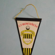 Collezionismo sportivo: BANDERIN C. F. MONTAÑESA - BARCELONA. Lote 204696105