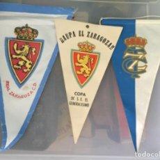 Coleccionismo deportivo: 2 BANDERINES DE FUTBOL REAL ZARAGOZA Y 1 REAL TENIS CLUB. Lote 204747958