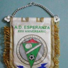 Collectionnisme sportif: BANDERIN A. D. ESPERANZA - MADRID. Lote 204819587