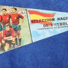Coleccionismo deportivo: BANDERÍN CONMEMORATIVO - SELECCIÓN NACIONAL DE FUTBOL - ESPAÑA 2-RUSIA 1 - CAMPEONES DE EUROPA 1964. Lote 205447031