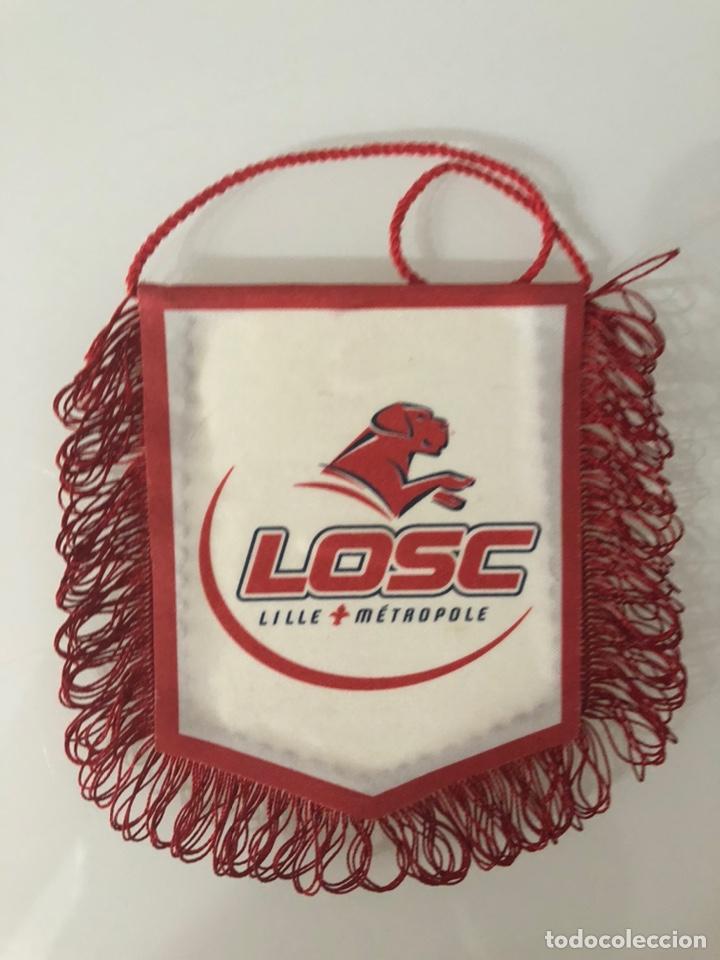 BANDERÍN LILLE METROPOLE LOSC (Coleccionismo Deportivo - Banderas y Banderines de Fútbol)