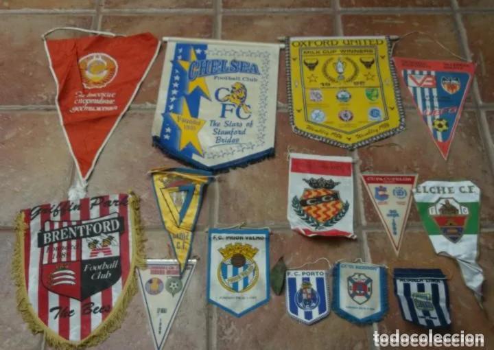 Coleccionismo deportivo: 46 BANDERINES ORIGINALES ANTIGUOS DE EQUIPOS DEL MUNDO - Foto 4 - 205566993