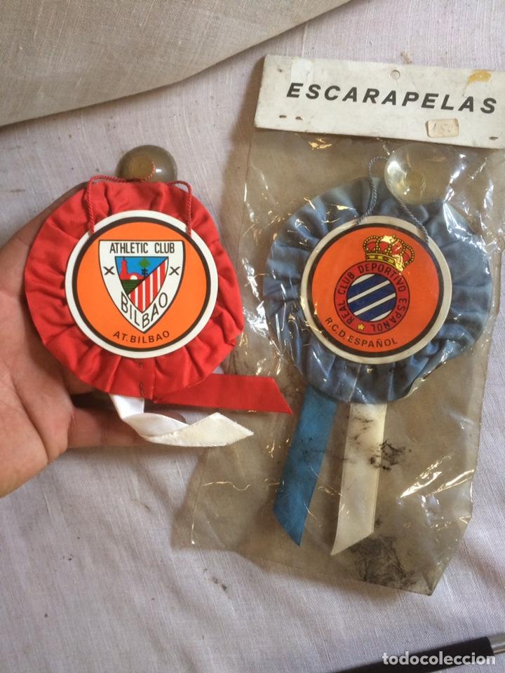 BANDERINES ATLETICO BILBAO Y REAL CLUB ESPAÑOL! (Coleccionismo Deportivo - Banderas y Banderines de Fútbol)