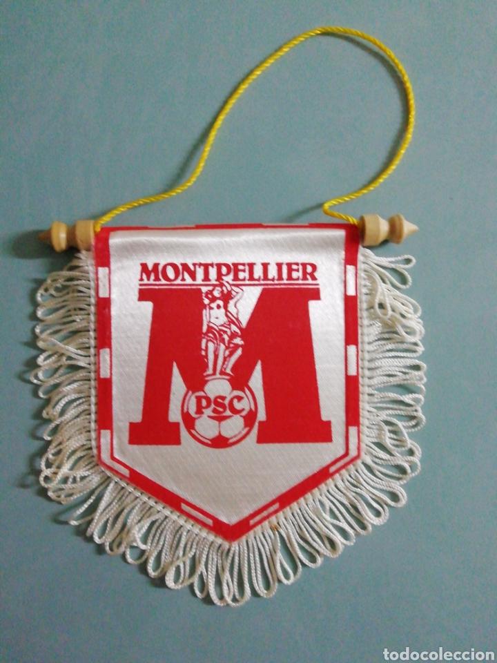BANDERIN MONTPELLIER PSC DE FRANCIA (Coleccionismo Deportivo - Banderas y Banderines de Fútbol)