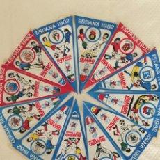 Coleccionismo deportivo: MUNDIAL ESPAÑA 82 COLECCION COMPLETA 24 BANDERINES KUWAIT, INGLATERRA URSS.... Lote 205885475