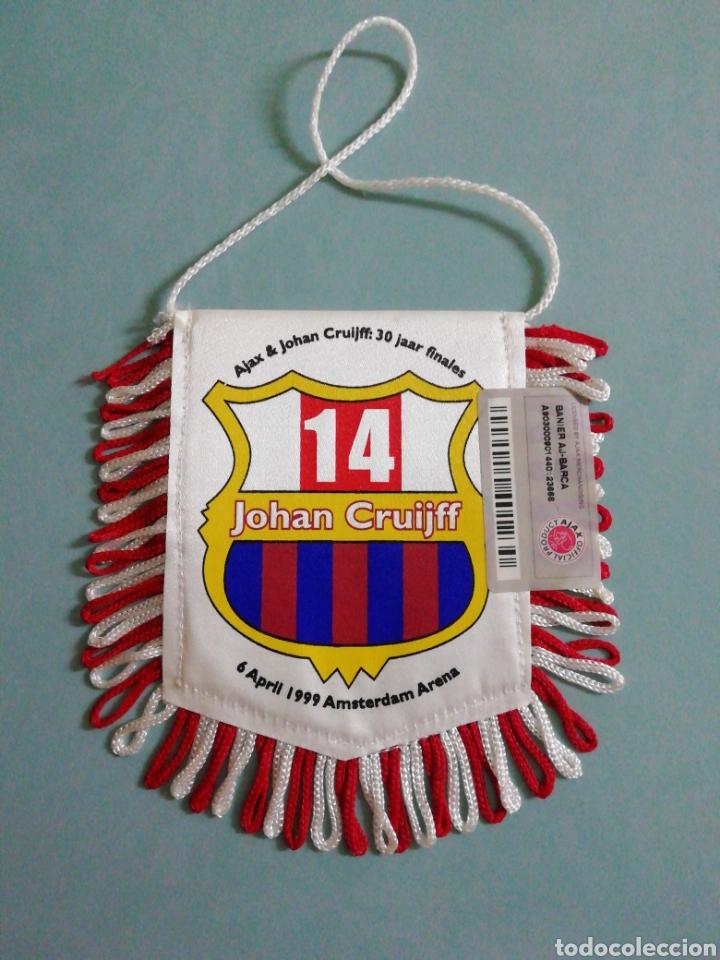 Coleccionismo deportivo: Banderin AJAX & JOHAN CRUIJFF de Holanda - Foto 2 - 206263310