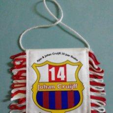 Coleccionismo deportivo: BANDERIN AJAX & JOHAN CRUIJFF DE HOLANDA. Lote 206263310