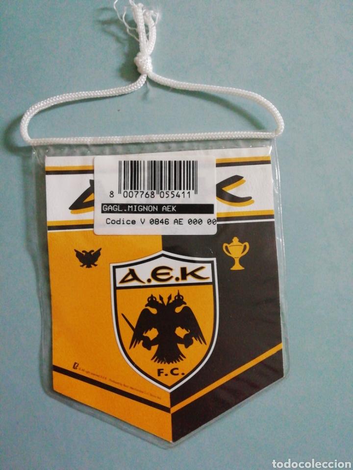 Coleccionismo deportivo: Banderin AEK F C. de Grecia - Foto 2 - 206267372