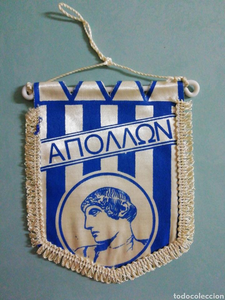 BANDERIN APOLLON LIMASSOL F. C. DE GRECIA (Coleccionismo Deportivo - Banderas y Banderines de Fútbol)