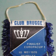 Collezionismo sportivo: BANDERIN CLUB BRUGGE DE BÉLGICA. Lote 206366343
