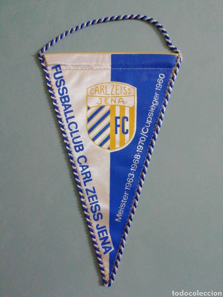 BANDERIN F. C. CARL ZEISS JENA DE ALEMANIA (Coleccionismo Deportivo - Banderas y Banderines de Fútbol)