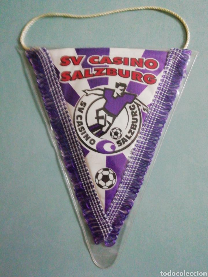 BANDERIN SV CASINO SALZBURG DE AUSTRIA (Coleccionismo Deportivo - Banderas y Banderines de Fútbol)