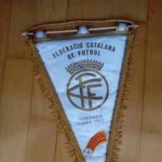 Coleccionismo deportivo: BANDERIN FEDERACIO CATALANA DE FUTBOL FUNDADA L ANY 1900. Lote 206585893