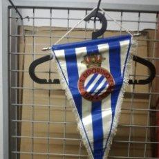 Coleccionismo deportivo: RCD ESPANYOL VINTAGE PENNANT FOOTBALL BADERIN FUTBOL BANDERIN. Lote 206994652