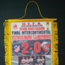 Collezionismo sportivo: LOTE 10 BANDERINES ATLÉTICO DE MADRID. Lote 232796780
