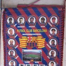 Coleccionismo deportivo: GRAN BANDERIN, FUTBOL CLUB BARCELONA. 1994-1995. TETRACAMPIONS. 45 X 31 CM. Lote 208281027