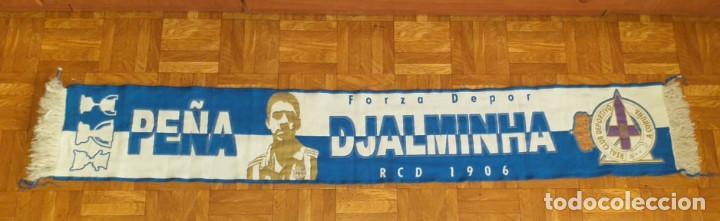 ANTIGUA BUFANDA DEPORTIVO LA CORUÑA PEÑA DJALMINHA (Coleccionismo Deportivo - Banderas y Banderines de Fútbol)