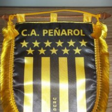 Collectionnisme sportif: BANDERÍN DEL CLUB ATLÉTICO PEÑAROL (URUGUAY) OFICIAL DE INTERCAMBIO DE CAPITÁN. Lote 210148000