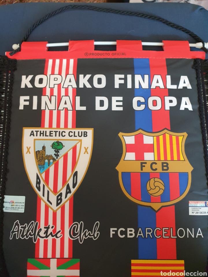 Coleccionismo deportivo: BANDERIN FINAL DE COPA ATHLETIC- BARCELONA 09 - Foto 3 - 210753180