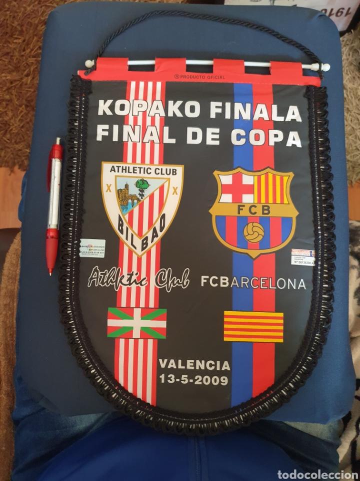 BANDERIN FINAL DE COPA ATHLETIC- BARCELONA 09 (Coleccionismo Deportivo - Banderas y Banderines de Fútbol)