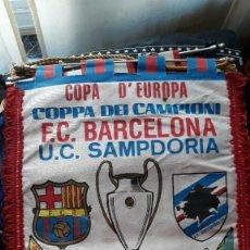 Collectionnisme sportif: BANDERÍN COPA D´EUROPA F.C.BARCELONA U.C.SAMPDORIA FINAL 20-5-92. Lote 211517487