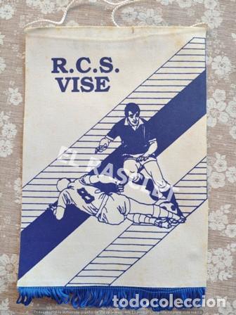 ANTIGÜO BANDERIN - R.C.S. VISE (Coleccionismo Deportivo - Banderas y Banderines de Fútbol)