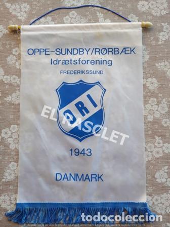 ANTIGÜO BANDERIN ORI DINAMARCA 1943 (Coleccionismo Deportivo - Banderas y Banderines de Fútbol)