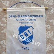 Coleccionismo deportivo: ANTIGÜO BANDERIN ORI DINAMARCA 1943. Lote 212623545