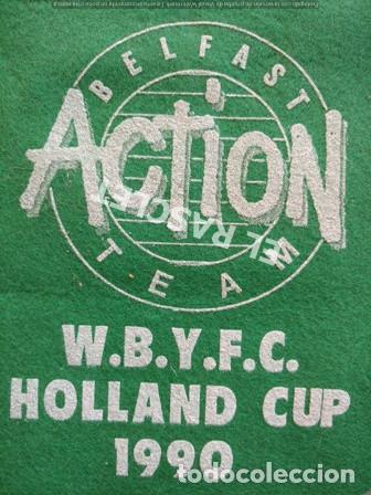 Coleccionismo deportivo: ANTIGÜO BANDERIN BELFAST ACTION TEAM - COPA DE HOLANDA DE 1990 - Foto 2 - 212627645