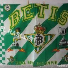 Coleccionismo deportivo: PANCARTA /BANDERA DEL REAL BETIS BALOMPIE - MEDIDAS 133 CM. X 94 CM. NUEVA. Lote 212632808