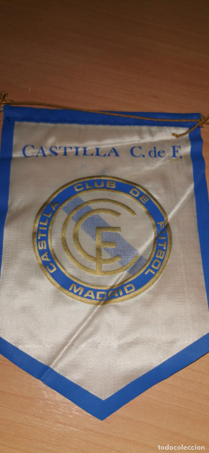 BANDERIN DEL CASTILLA C. F.PERTENECIA AL JUGADOR DEL EQUIPO LOSADA AÑOS 80 (Coleccionismo Deportivo - Banderas y Banderines de Fútbol)